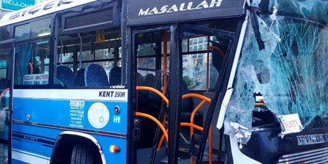 Ankara'da otobüs kazası: Çok sayıda yolcu yaralandı