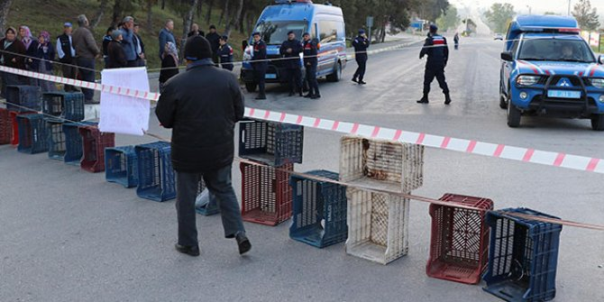 Yolu ulaşıma kapattı: Olay yerine çok sayıda jandarma geldi
