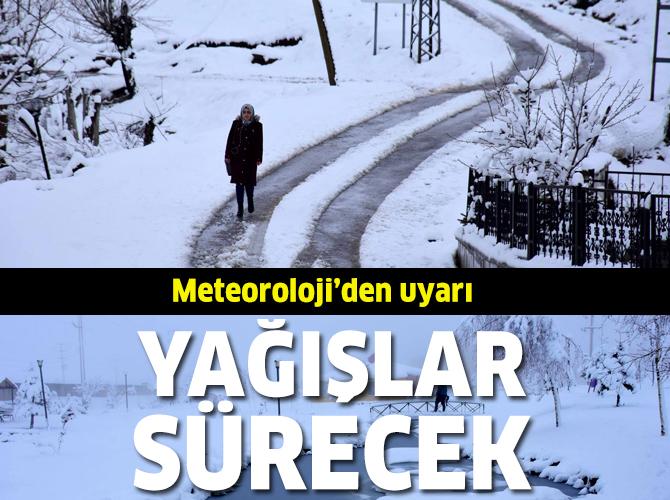 Doğu'da kar yağışlarının devam etmesi bekleniyor
