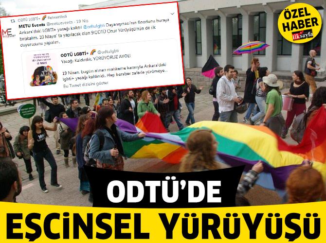 ODTÜ'de eşcinsel yürüyüşü