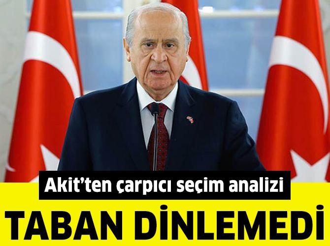 """Akit: """"MHP tabanı yerel seçimde Bahçeli'yi dinlemedi"""""""