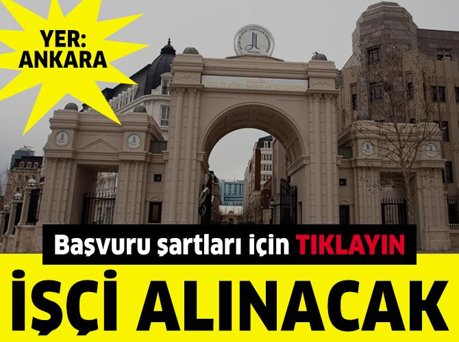 Ankara Güzel Sanatlar Üniversitesi'ne işçi alınacak