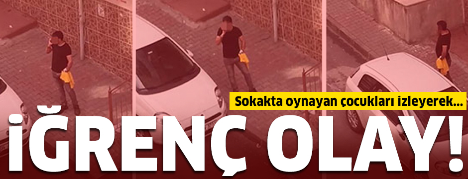 Sultangazi'de çocukları izleyerek mastürbasyon yaptığı iddia edilen şüpheli yakalandı