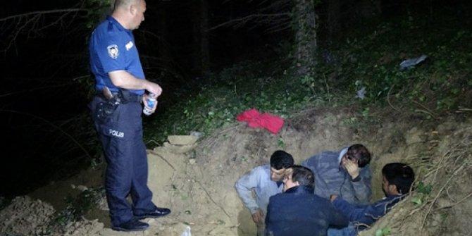 Kaçak define ararken yakalandılar! Polis gelince ölü taklidi yaptılar