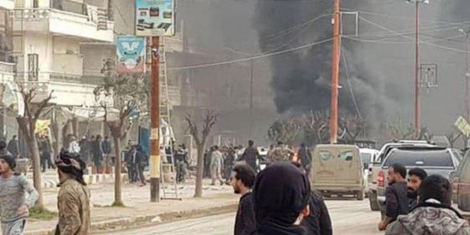 Afrin'de patlama: 4 kişi öldü, çok sayıda kişi yaralandı