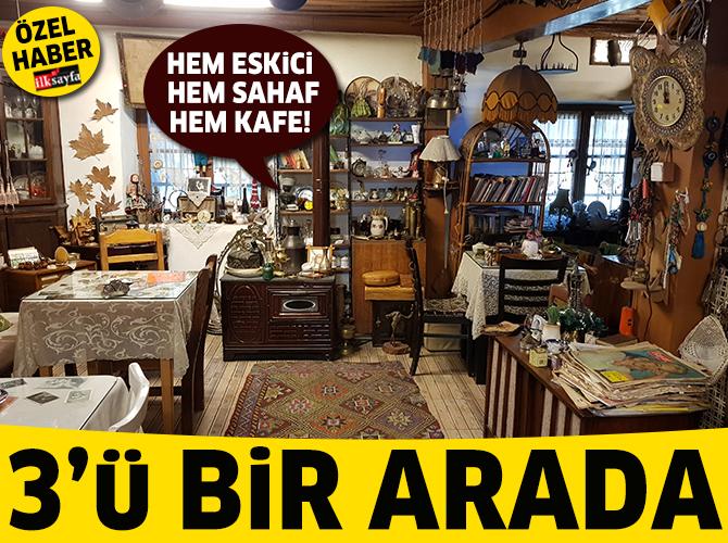 Hem eskici hem sahaf hem kafe: Ankara Dantel Kafe