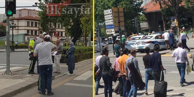 Ankara'da kırmızı ışıkta geçen yayalara para cezası kesildi!