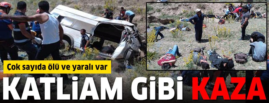 Van'da katliam gibi kaza: Çok sayıda ölü ve yaralı var
