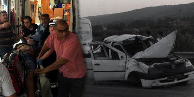 Tatil dönüşü feci kaza!