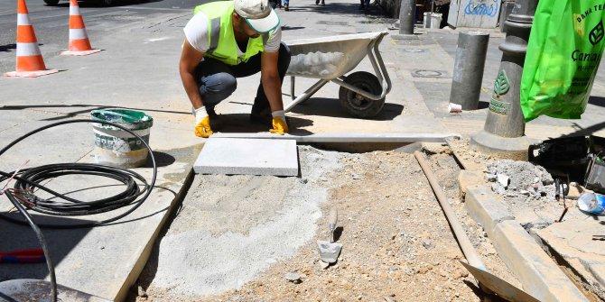 Büyükşehir Belediyesi 7 ayda 69 bin metrekare kaldırım onardı