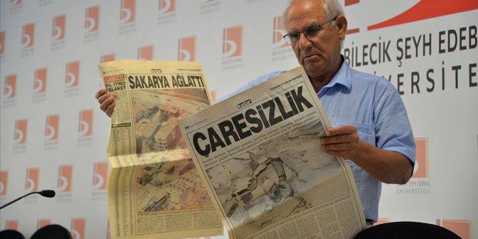 Deprem acıları tekrarlanmasın diye gazete kupürlerini arşivledi