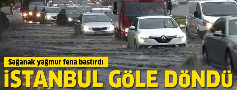 İstanbul'da beklenen gök gürültülü sağanak başladı