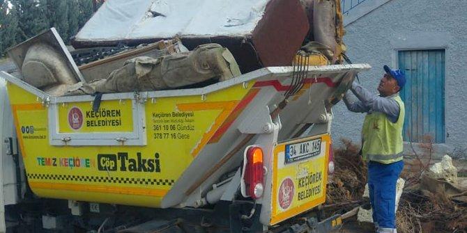 Keçiören Belediyesi 'Çöp Taksi' ile evsel atıkları topluyor