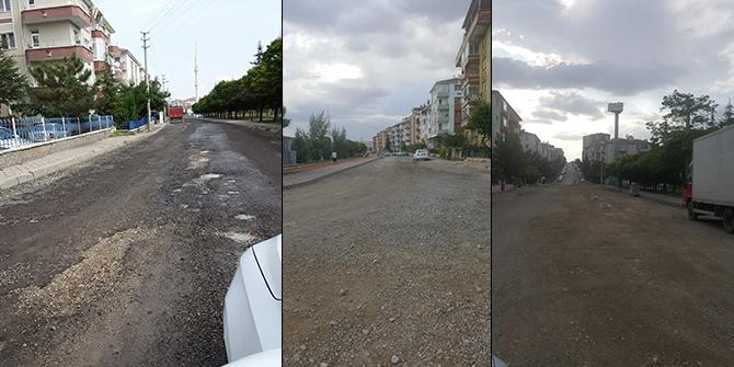 Sincan Selçuklu Mahallesi'nde bozuk yol isyanı