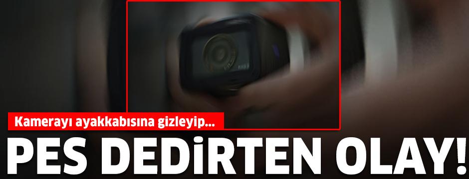 Etek altı görüntüler çektiği iddiasıyla tutuklandı
