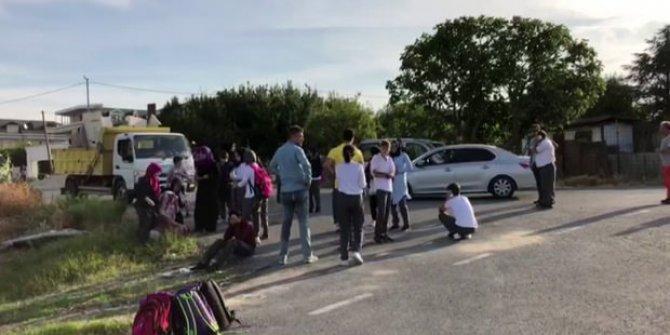 Okul servisi takla attı: Çok sayıda öğrenci yaralı