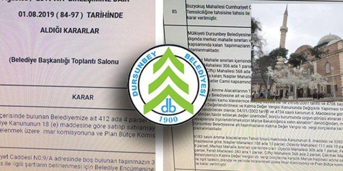 Dursunbey Belediyesi camileri satışa çıkardı iddiası