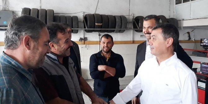 Gölbaşı Belediye Başkanı Ramazan Şimşek esnafı ziyaret etti