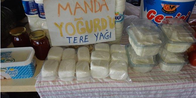 Beyaz tereyağı ve yoğurdu olan manda ürünlerine rağbet arttı