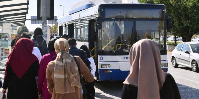 AYBÜ-Saray-Ulus-Kızılay hattı hem ekspres hatta dönüştürüldü hem de servis sayısı artırıldı