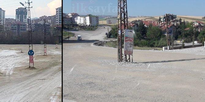 Mamak Yeşilbayır'da Mimar Sinan Güzel Sanatlar Lisesi'nin duvar yapımı bitince asfalt atılacak