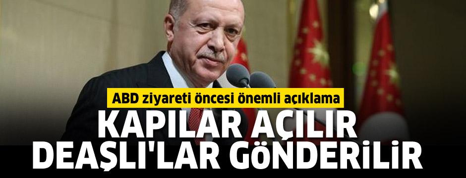 Erdoğan'dan ABD ziyareti öncesi önemli açıklamalar