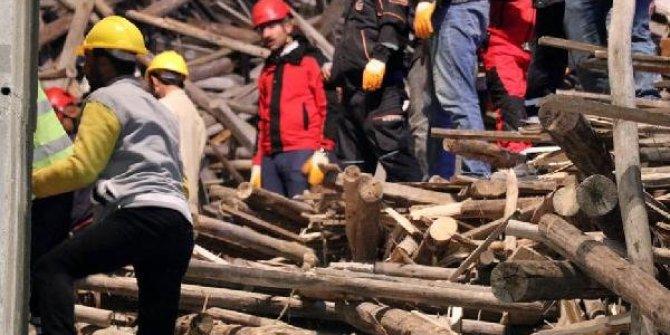 Cami inşaatı çöktü