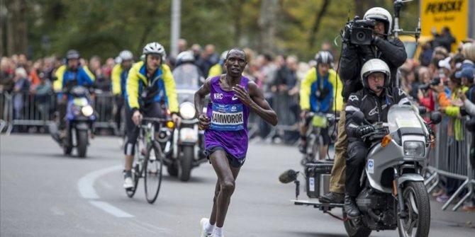 Kenyalı atlet Kamworor, Kopenhag Yarı Maratonu'nda dünya rekoru kırdı
