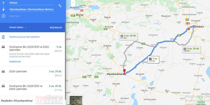 Ankara Afyon arası kaç km? Ankara Afyon arası kaç saat? Ankara Afyon Yol Tarifi, Ankara Afyon Otobüs ve Uçak Bileti Fiyatları...