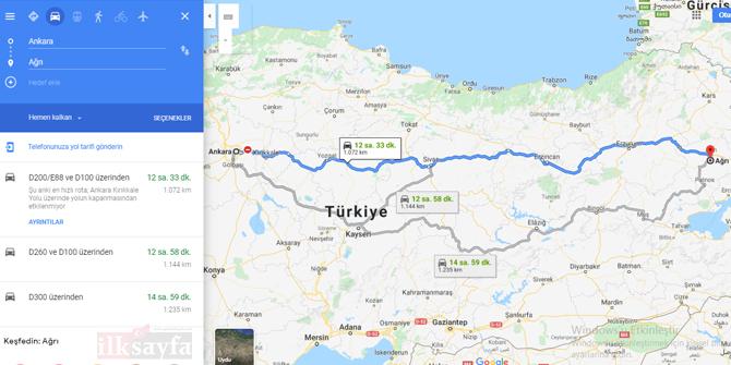 Ankara Ağrı arası kaç km? Ankara Ağrı arası kaç saat? Ankara Ağrı Yol Tarifi, Ankara Ağrı Otobüs ve Uçak Bileti Fiyatları...