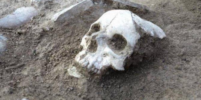 Çorum'daki kazıda, 3 bin 500 yıllık kafatası bulundu