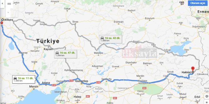 Ankara Hakkari arası kaç km? Ankara Hakkari arası kaç saat? Ankara Hakkari Yol Tarifi, Ankara Hakkari Otobüs Bileti Fiyatları...