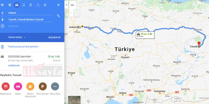 Ankara Tunceli arası kaç km? Ankara Tunceli arası kaç saat? Ankara Tunceli Yol Tarifi, Ankara Tunceli Otobüs Bileti Fiyatları...