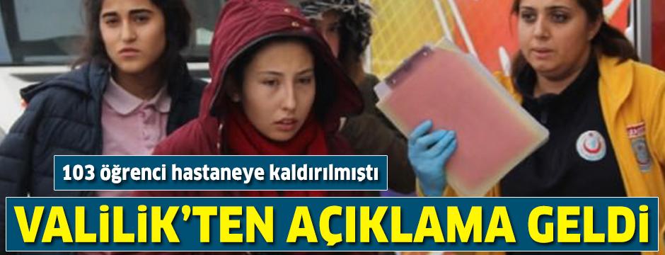 103 öğrenciden sadece 8'i taburcu edildi: Valilik'ten açıklama geldi