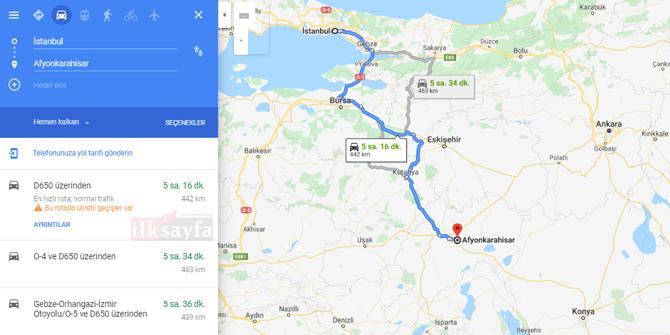 İstanbul Afyon arası kaç km? İstanbul Afyon arası kaç saat? İstanbul Afyon Yol Tarifi, İstanbul Afyon Otobüs Bileti Fiyatları...