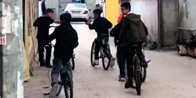 Sokak ortasında çakmak gazı çeken çocuklara tepki
