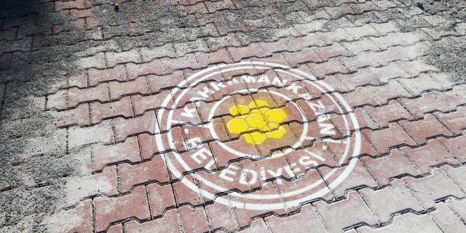 Kahramankazan'da yollara petek logosu