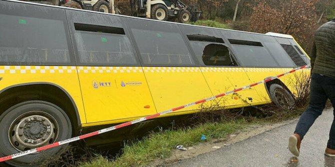 Çekmeköy'de İETT otobüsü yan yattı: yaralılar var