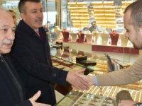 Altındağ Belediye Başkanı Asım Balcı veHasan Çavuşculu kuyumcuları ziyaret etti