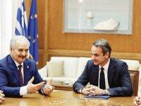 Yunanistan'ın Libya telaşı: Atina'ya çağırıp Hafter'e taktik verdiler