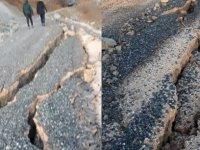 Elazığ'daki deprem toprağı çatlattı