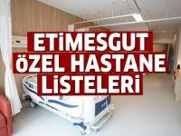Etimesgut Özel Hastane Listesi...Etimesgut 'daki Özel Hastanelerin Adresleri ve Telefonları 2020