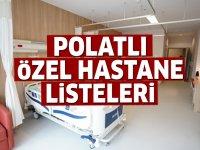 Polatlı Özel Hastane Listesi...Polatlı'daki Özel Hastanelerin Adresleri ve Telefonları 2020