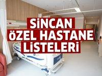 Sincan Özel Hastane Listesi...Sincan'daki Özel Hastanelerin Adresleri ve Telefonları 2020
