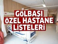 Gölbaşı Özel Hastane Listesi...Gölbaşı'ndaki Özel Hastanelerin Adresleri ve Telefonları 2020