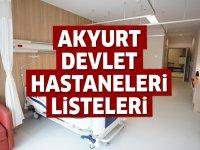 Akyurt Devlet Hastaneleri Listesi.. Akyurt'taki Devlet Hastanelerinin Adresleri ve Telefonları 2020
