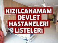 Kızılcahamam Devlet Hastaneleri Listesi.. Kızılcahamam'daki Devlet Hastanelerinin Adresleri ve Telefonları 2020