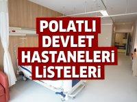 Polatlı Devlet Hastaneleri Listesi.. Polatlı'daki Devlet Hastanelerinin Adresleri ve Telefonları 2020