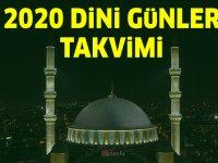 2020 Diyanet, Dini Günler, Dini Bayramlar Takvimi
