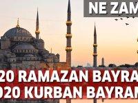2020 Kurban Bayramı ve  Ramazan Bayramı ne zaman? Kaç gün tatil?